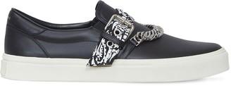 Amiri Bandana Chain Leather Low-Top Sneakers
