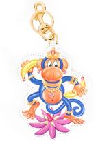 Moschino crowned monkey keyring - women - Calf Leather/metal - One Size