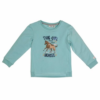 Salt&Pepper Salt and Pepper Girls' Horses Pferde Applikation Sweatshirt