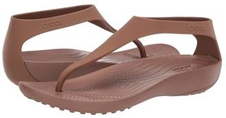 Crocs Serena Flip (Black/Black) Women's Sandals