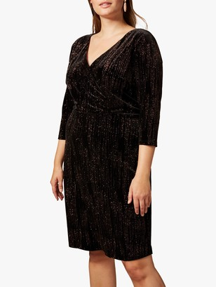 Studio 8 Noelle Sparkle Dress, Black/Bronze