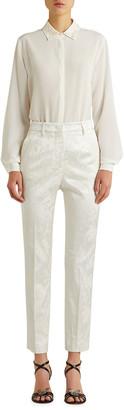 Etro Floral Jacquard Slim Capri Pants