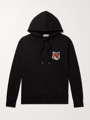 MAISON KITSUNÉ Logo-Appliqued Loopback Cotton-Jersey Hoodie
