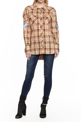 Aratta Audrey Plaid Long Sleeve Shirt
