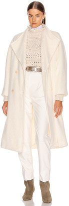 Alberta Ferretti Long Coat in White | FWRD