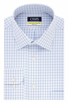 Chaps Men's Dress Shirt Regular Fit Stretch Collar Check