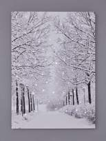 Very Snowy Avenue Light Up Canvas Wall Art Christmas Decoration