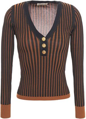 Nicholas Striped Ribbed-knit Top