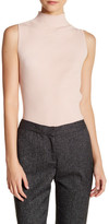 Vince Camuto Mock Neck Ribbed Tank Sweater