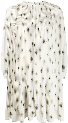 Iris von Arnim Pleated Ink Floral Print Dress
