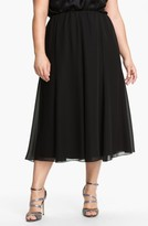 Alex Evenings Plus Size Women's Chiffon Skirt