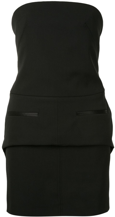 Vera Wang Strapless Mini Dress