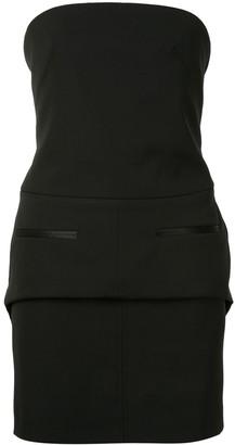 Vera Wang Strapless Mini Dress