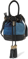 See by Chloe Patchwork denim and leather shoulder bag