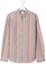 Paul Smith striped poplin shirt - kids - Cotton - 14 yrs