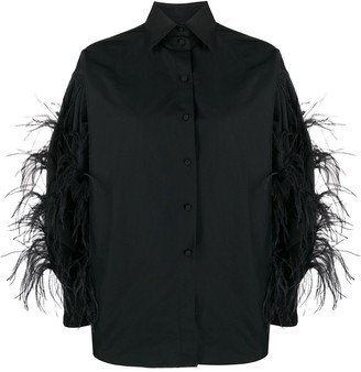Valentino Feather Detailed Shirt