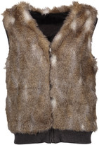 Splendid Ashville reversible faux fur and cotton-blend vest