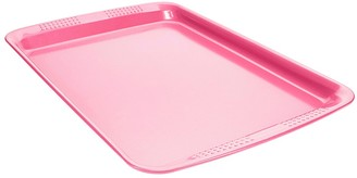 Soffritto Commercial Non-Stick Carbon Steel Oven Tray 37 x 27 x 1.8cm Pink