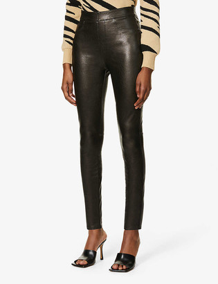 Spanx Like Leather skinny high-rise faux-leather trousers