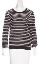 Sandro Striped Open Knit Sweater