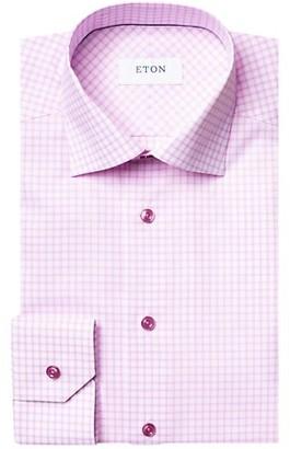 Eton Contemporary-Fit Check Dress Shirt