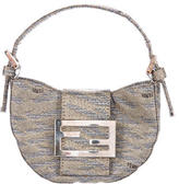 Fendi Metallic Logo-Accented Evening Bag