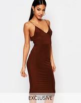 Club L Midi Dress With Cami Strap