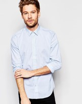 Esprit Plain Long Sleeved Oxford Shirt In Slim Fit