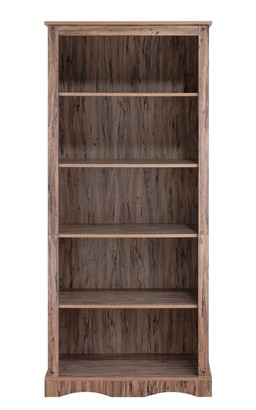 """Elegant Home Fashions Simplicity Bookcase with 5 Shelves - 32"""" x 17"""" x 71.63"""""""