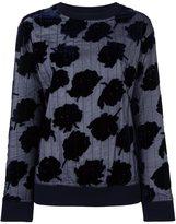 DKNY velvet rose quilted sweatshirt - women - Silk/Viscose/Merino - S
