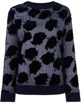 DKNY velvet rose quilted sweatshirt