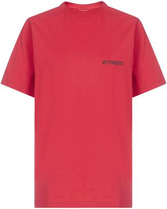 Vetements Logo Front Back Oversized Cotton T-shirt