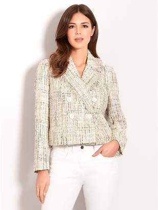 M&Co Vero Moda double breasted sequin boucle jacket