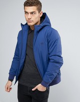 Fred Perry Brentham Jacket Hooded Insulated In Blue