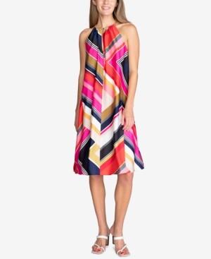 Trina Turk Marquesa Printed Hardware Sleeveless Dress