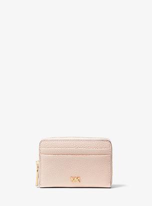 MICHAEL Michael Kors MK Small Pebbled Leather Wallet - Black - Michael Kors