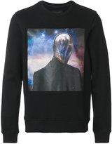 Frankie Morello alien print sweatshirt