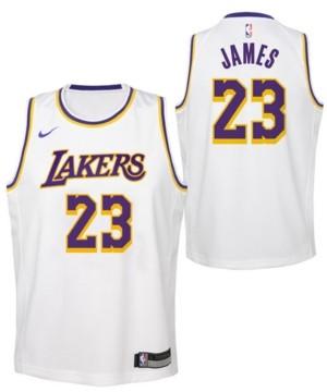 Nike LeBron James Los Angeles Lakers Association Swingman Jersey ...