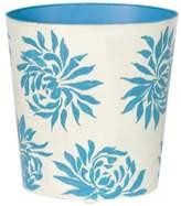 Worlds Away Oval Floral Wastebasket