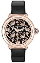 Glam Rock Women's Bal Harbour 40mm Black Leather Band Rose Gold Plated Case Swiss Quartz Watch GR77020N