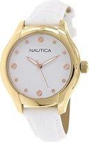 Nautica Women's N11633M NCT 18 Mid Analog Display Quartz White Watch