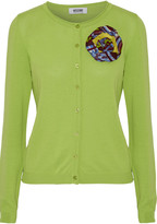 Moschino Cheap & Chic Moschino Cheap and Chic Brooch-embellished cotton cardigan
