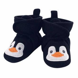 Hudson Baby Baby Girls' Unisex Cozy Fleece Booties with Non Skid Bottom Casual Sock