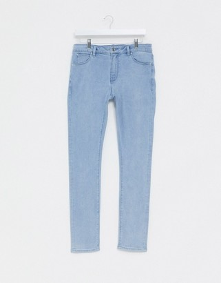 ASOS DESIGN super skinny jeans in light wash blue