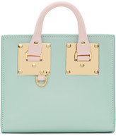 Sophie Hulme Ssense Exclusive Blue and Pink Albion Box Tote