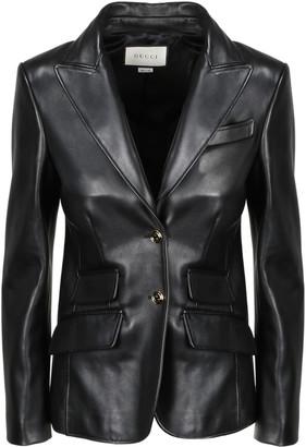 Gucci 2bnt Leather Blazer