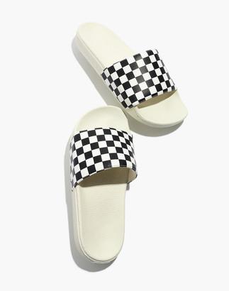 Madewell Vans Slide-On Sandals in Checkerboard