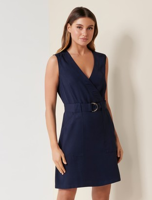 Forever New Katy Sleeveless Belted Dress - Navy Sails - 10