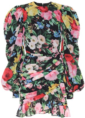 Richard Quinn Floral chiffon minidress