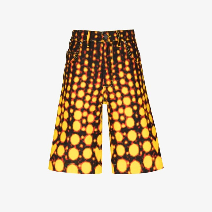 Thumbnail for your product : Charles Jeffrey Loverboy Black Art Printed Denim Shorts